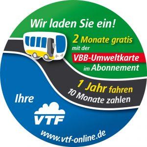 Mit der VBB-Umweltkarte 1 Jahr fahren - 10 Monate zahlen