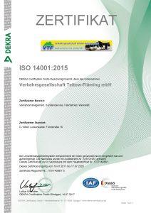Zertifikat 14001