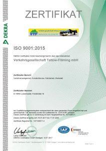 Zertifikat 9001