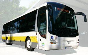 Sonderverkehr mit dem Überlandbus der VTF