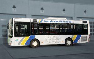 Regionale Buswerbung auf VTF-Fahrzeugen